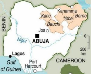 A map locating the northern states in Nigeria. By (AFP/Graphic)
